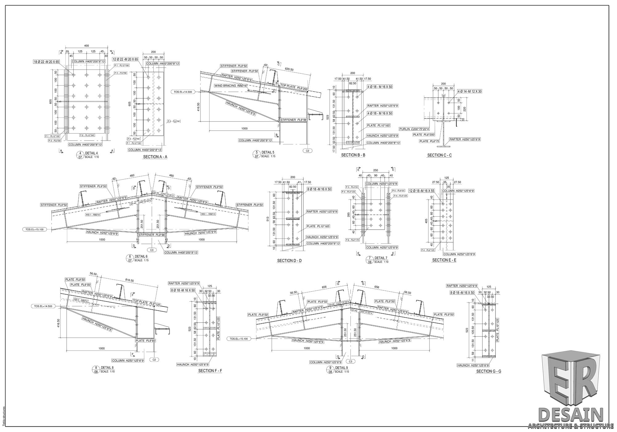 Paket Gambar Fabrikasi Struktur Baja